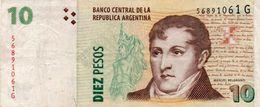 ARGENTINA 10 PESOS 2004  P-354a2 CIRC - Argentinien