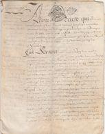PARCHEMIN-RECONNAISSANCE DE DETTE--VOIR SCANNER - Manuscripten