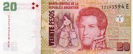 ARGENTINA 20 PESOS 2011  P-355b1 UNC - Argentinien