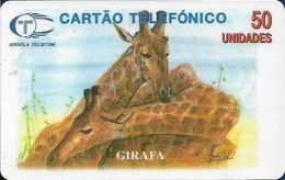 Angola - Angola Telecom - Giraffe, 1997, 50U, Used - Angola