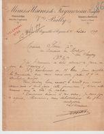 VENDEE: Vve BALLY, Verrerie De Cagouillet à Cognac / L. De 1899 - Petits Métiers