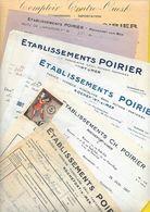 6 Factures Et BL 1928/35 Ets POIRIER Rochefort Sur Mer - France