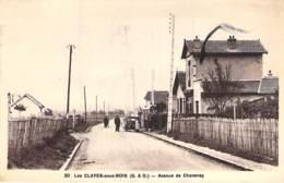 78 - LES CLAYES SOUS BOIS : Avenue De Chavenay - CPSM Sépia Format CPA Postée 1948  - Yvelines - Les Clayes Sous Bois