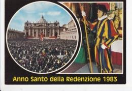 """VATICAN, Place St Pierre, """"Anno Santo Della Redenzione 1983, Foule, Suisse, Garde Ed. Plurigraf 1980 - Vatican"""