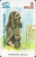 Angola - Angola Telecom - Rapariga Mucubal, 08.1996, 50U, 50.000ex, Used - Angola