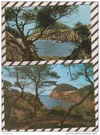 4AF522 ILE DE PORQUEROLLES Calanque Du Breganconnet Lot De 2 Cartes  2 SCANS - Porquerolles