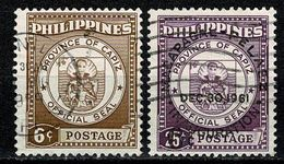 Philippines 1959/1961 Province Of Capiz - Official Seal. - Used - Filipinas