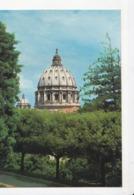 VATICAN, La Coupole De St Pierre Vue Des Jardins Du Vatican, Ed. Ris. A.R.1980 Environ - Vatican
