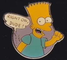 65780-Pin's-Les Simpson . Matt Groening.Télévision.Cinéma. - Cine