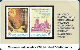 Vatican - Assisi Per La Pace - 10.000V₤, 1993, 19.600ex, Mint - Vatican