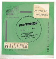 """Disque Plastisonor - Réf MIC 72 - 45 Tours - Plastique Souple Translucide - Série """"Ca C'est De L'accordéon"""" - Formats Spéciaux"""