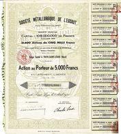 Titre Ancien - Société Métallurgique De L'Escaut - Anciens Ets César Sipot - Société Anonyme  - Titre De 1950 - Déco - - Industrie