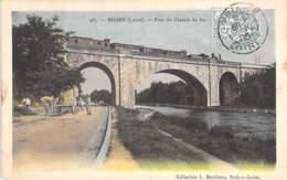 45 - BRIARE :  Pont Du Chemin De Fer ( Animation - Attelage ) - CPA Colorisée - Loiret - Briare
