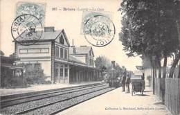 45 - BRIARE :  La Gare ( Animation Et Train à Vapeur En Gare ) - CPA - Loiret - Briare