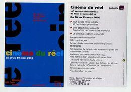 CP Pub Neuve Cinéma Du Réel. Mars 2006. 28ème Festival International De Films Documentaires. Bibli Centre Pompidou Paris - Cinema