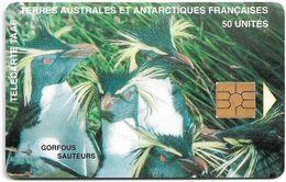 TAAF - Gorfous Sauteurs - TAF-08 - 04.1996, 50U, 1.500ex, Used - TAAF - Terres Australes Antarctiques Françaises