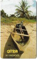 Equatorial Guinea - GETESA - Wooden Boat - SC7, 30Units, Used - Guinea Equatoriale