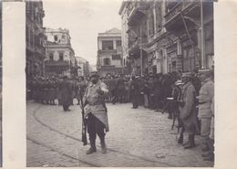 PHOTO ORIGINALE 14 / 18 WW1 FRONT FRANCAIS D ORIENT SALONIQUE SOLDATS FRANCAIS PENDANT LES ÉMEUTES - War, Military