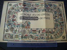 Jeu De L'oie Du Métropolitain De Paris . 4 Photos - Group Games, Parlour Games
