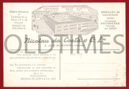 PORTUGAL - S. JOAO DA MADEIRA - FABRICA MECANICA DE CHAPEUS DE PELO LA E PALHAS - 1950 ADV. BLOTTER - Vestiario & Tessile