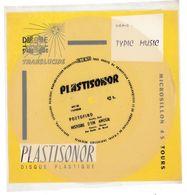 """Disque Plastisonor - Réf MIC 62 - 45 Tours - Plastique Souple Translucide - Série """"Typic Music"""" - Formats Spéciaux"""