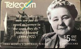 NOUVELLE-ZELANDE  -  Phonecard  - Telecom New Zealand Limited  - Mabel Howard  - $ 5 - New Zealand