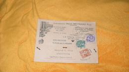 CARTE ANCIENNE DE 1933.../ ETABLISSEMENTS HENRI MEYNARD FILS LA TESTE GIRONDE..CACHETS + TIMBRES X3 BLANC 5C ET 10C + SE - Marcophilie (Lettres)