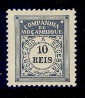 ! ! Mozambique Company - 1906 Postage Due 10 R - Af. P 02 - MH - Mozambique