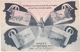 Bergen Op Zoom Vlinderkaart M4916 - Bergen Op Zoom