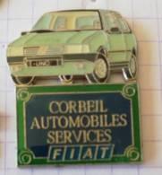 Pin's - CORBEIL AUTOMOBILES SERVICES - Fiat Uno  ( Garage - Mécanique ) - Fiat