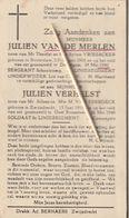 Oorlogsslachtoffer : 1940, Soldaat, J. Van Der Merlen, J. Verhelst, Van Esbroeck, Zwijndrecht, Gesneuveld, Oost-Roosbeke - Religion & Esotérisme