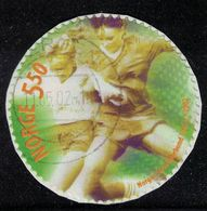 Norvège 2002 Oblitéré Used Sport Football Féminin Timbre Rond Sur Fragment SU - Used Stamps