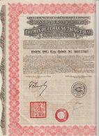 Gouvernement De La République Chinoise. Bon Du Trésor 8% 1925 ;Chemin De Fer LUNG-TSING-U-HAÏ ; Bon De 500 Frs N°007,756 - Chemin De Fer & Tramway
