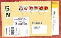 Einschreiben Reco, Benachrichtigungskarte, Abholschein, Blumen, Briefzentrum 78 Nach Leonberg 2016 (95431) - Lettres & Documents