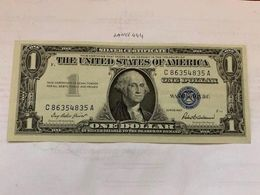 United States Washington Uncirc. Blue Banknote 1957 #2 - Silver Certificates – Títulos Plata (1928-1957)