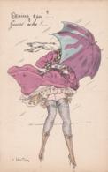 Cpa Illustrateur Carlo Santini , Devinez Qui ?.. - (lot Pat 117) - Andere Zeichner
