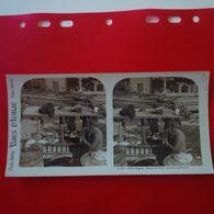 PHOTO NAPLES SCENES DU PORT CUISINE AMBULANTE - Stereoscopio
