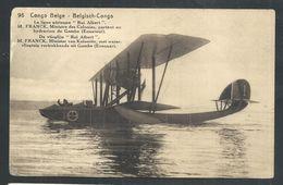 +++ CPA - Entier Postal Afrique - CONGO BELGE - Ligne Aérienne...M.Franck, Ministre Des Colonies...hydravion - Avion  // - Congo Belge - Autres