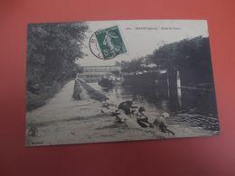 BRIARE_Bords Du Canal_Avec Péniches Et Joli Gros Plan Avec Des Lavandieres_Collec. Marchand Sully Sur Loire - Briare