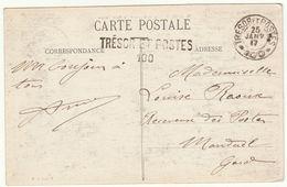 CP Donrémy Cad  + Linéaire Trésor Et Postes 100 1917 / Receveuse Des Postes De Manduel Gard - Guerre De 1914-18