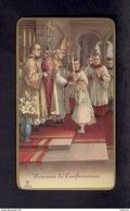 Image Pieuse Religieuse Holly Card Souvenir De Confirmation - Devotion Images