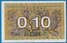 LITHUANIA  0,10 Talonas 1991 # AD 153686  P# 29b - Lithuania