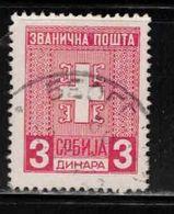 SERBIA Scott # 2N01 Used - Occupation Official - Serbien