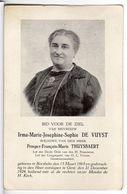 Doodsprentje VROUW FEMME Irma DE VUYST °1865 BORSBEKE GEMEENTERAADSLID +1924 GENT // THUYSBAERT - Devotion Images