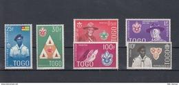 Togo Michel Cat.No. Mnh/** 313/318 Scouts - Togo (1960-...)