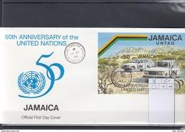 Jamaica Michel Cat.No. FDC Sheet 46 UNO - Jamaica (1962-...)