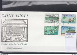 St.Lucia Michel Cat.No. FDC 1003/1006 - St.Lucia (1979-...)