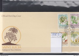St.Lucia Michel Cat.No. FDC 975/978 - St.Lucia (1979-...)