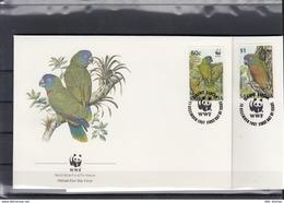 St.Lucia Michel Cat.No. FDC 909/912 Birds - St.Lucia (1979-...)