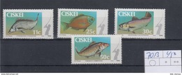 Ciskei Michel Cat.No. Mnh/** 70/73 Fish - Ciskei